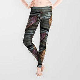 Autumn Leaves with Raindrops Leggings