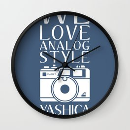"""We Love Analog"" Wall Clock"