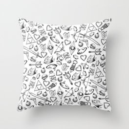 Zelda A Collection of Items Pattern Throw Pillow