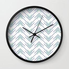 Sharp ZigZag Pattern Wall Clock