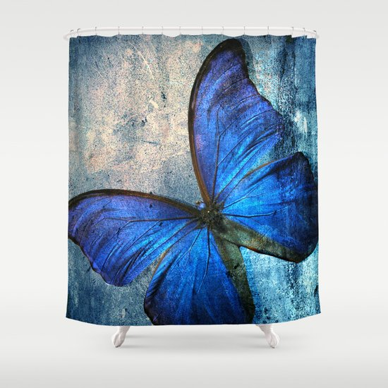 butterfly shower curtain by mark ashkenazi society6