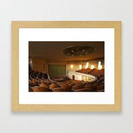 a theater's narrative Framed Art Print