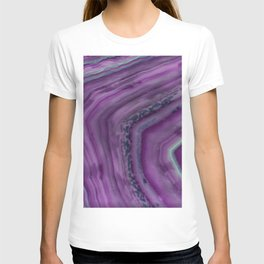 Purple line agate crystals T-shirt