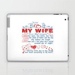 Love my wife Laptop & iPad Skin