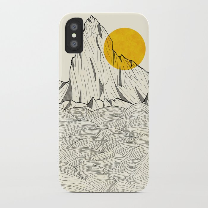 sun cliffs iphone case