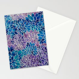 Floral Abstract 34 Stationery Cards