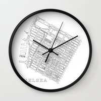 chelsea Wall Clocks featuring Chelsea by DRAW NORTH