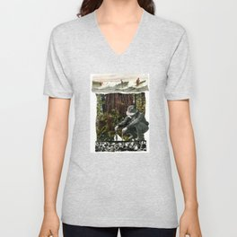 Surfing The History Of Trees Unisex V-Neck