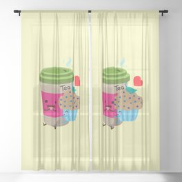 Tea and Muffin Sheer Curtain
