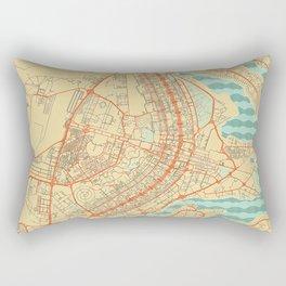 Brasilia Map Retro Rectangular Pillow