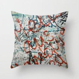 berlin wall Throw Pillow