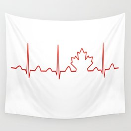 CANADA IN MY HEARTBEAT Wall Tapestry