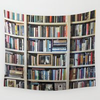library Wall Tapestries featuring Instant Library by Stone Twig Studio