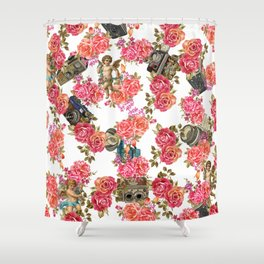 romantic filing  Shower Curtain