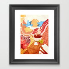 Ode to Breakfast Framed Art Print
