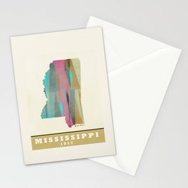 Mississippi state map modern Stationery Cards