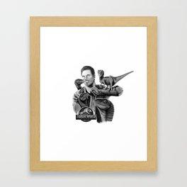 Owen and Raptors Framed Art Print