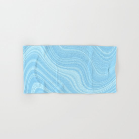 Blue wave abstract. Hand & Bath Towel