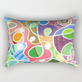Jubilant Loops Pattern Rectangular Pillow