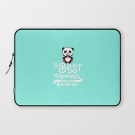 Panda Vampire born in December T-Shirt Laptop Sleeve