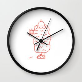 Creep (Red) Wall Clock