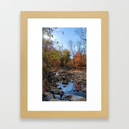 Follow the stream of life Framed Art Print