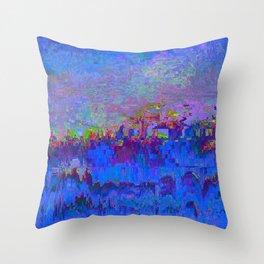 08-20-13 (Skyline Glitch) Throw Pillow