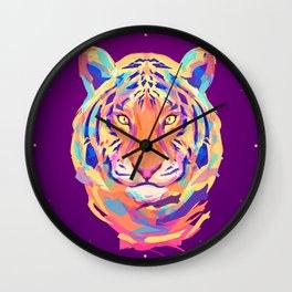 Neon tiger Wall Clock