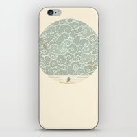 map iPhone & iPod Skins featuring Map by Tanya Tish