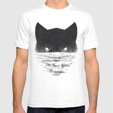 Wolfy Mens Fitted Tee MEDIUM White