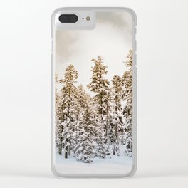 Snowy Forest | Winter Snow Tree Forest Nature Photography Clear iPhone Case