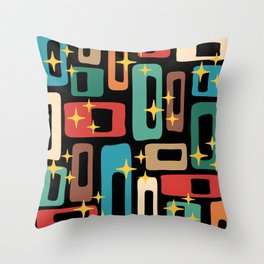 Retro Mid Century Modern Abstract Pattern 223 Throw Pillow