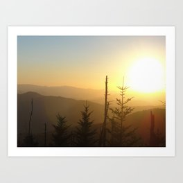 Sunset in the Smoky Mountains 3 Art Print