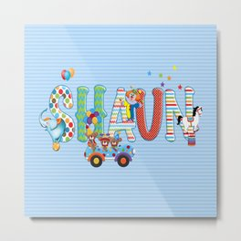 Shaun / Personalised Children's  Name Metal Print