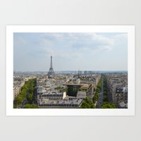 Views of Paris Art Print