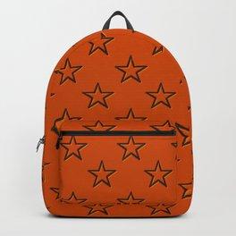 Orange stars pattern Backpack